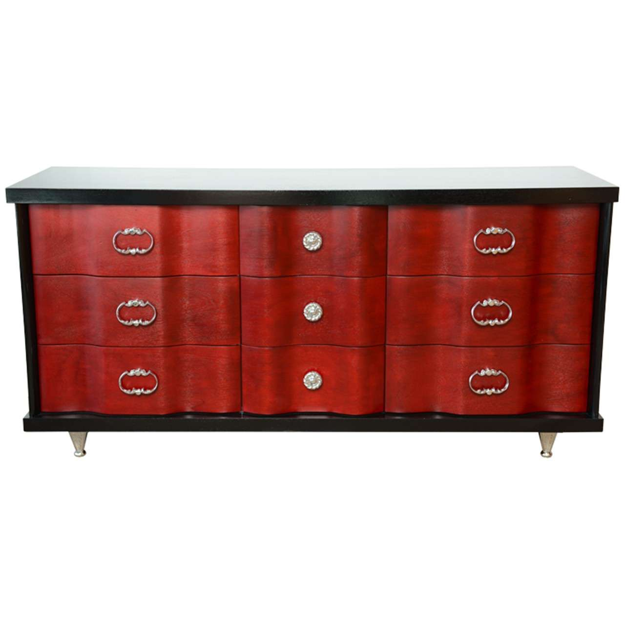 Mid Century Hollywood Regency Glamourous Dresser By Bassett Furniture