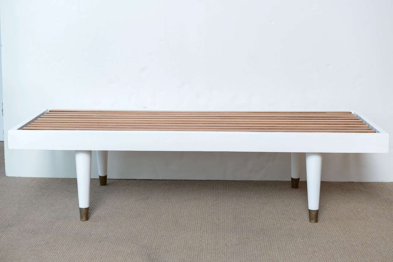 Mid Century Modern Slat Coffee Table At 1stdibs