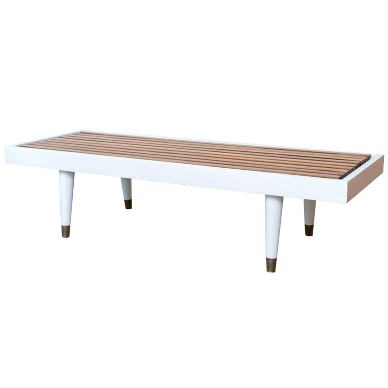 Slatted Coffee Table Mid Century Modern Slat Coffee Table At 1stdibs