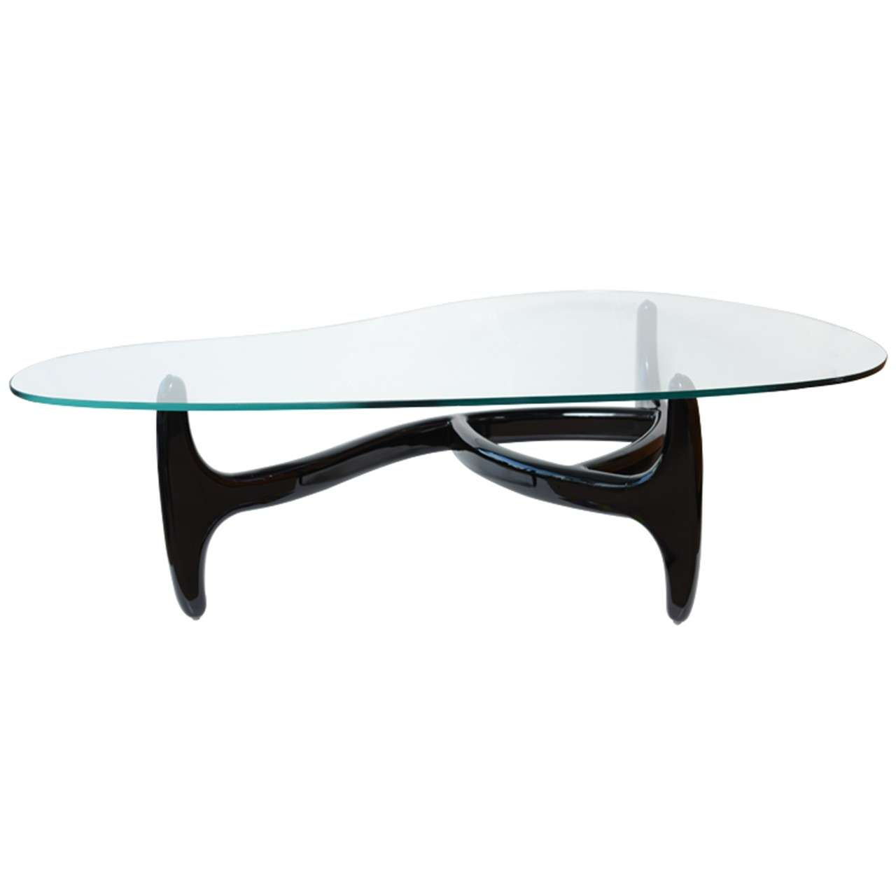 Kidney Shaped Glass Top Coffee Table Designer Architectural Kidney Shaped Coffee Table At 1stdibs