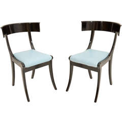 A Pair of Danish Klismos Chairs