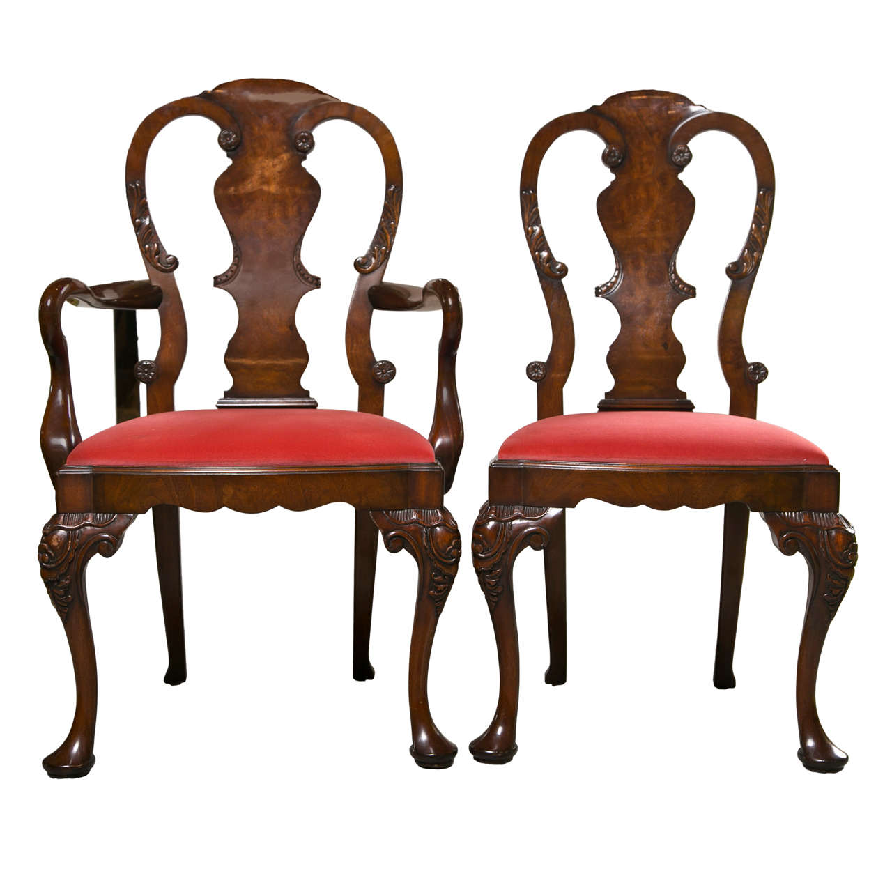 Set of Six George I Style Dining Chairs