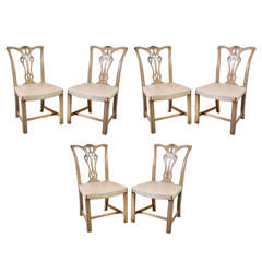 Set of 6 Regency Style Carved Side Chairs