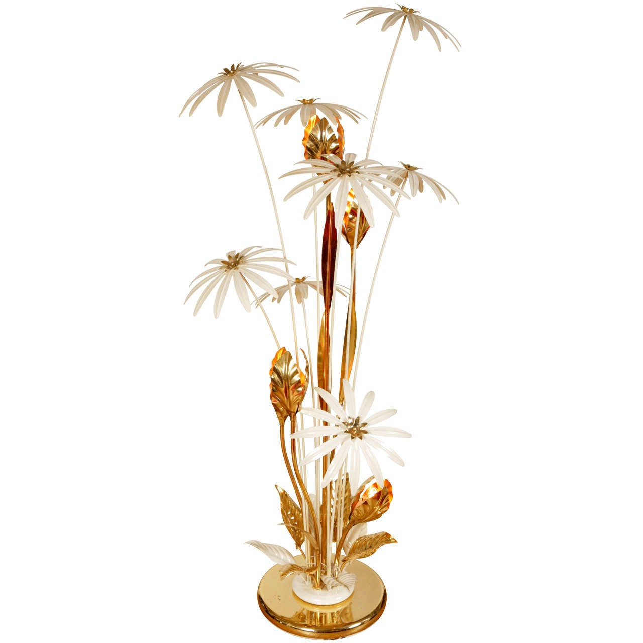 Tropical standard lamp at 1stdibs for Tropical floor lamp with table