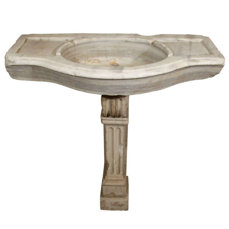 Antique Marble Sink : Antique stone sink at 1stdibs