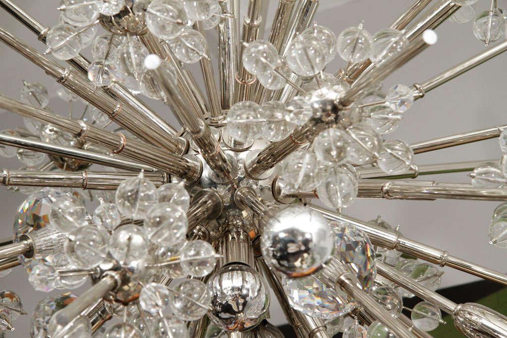Large custom handmade crystal Sputnik.