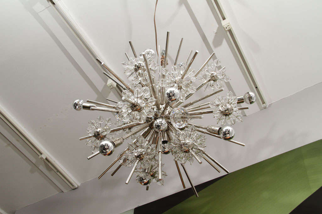 Large Custom Handmade Crystal Sputnik In Excellent Condition For Sale In New York, NY