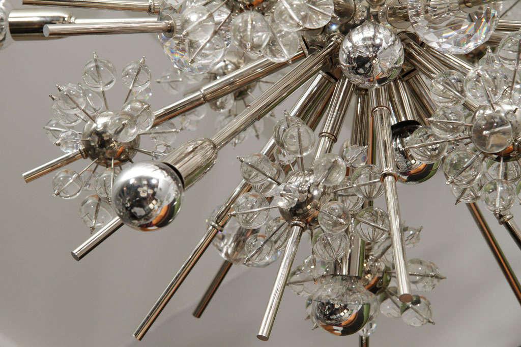 20th Century Large Custom Handmade Crystal Sputnik For Sale