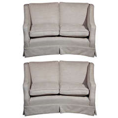 Pair of Down Cushion Loveseats*