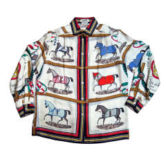 Hermes Equestrian Silk Blouse presented by funkyfinders
