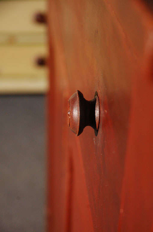 19thc Original Red Painted Jelly Cupboard From Maine For Sale 2