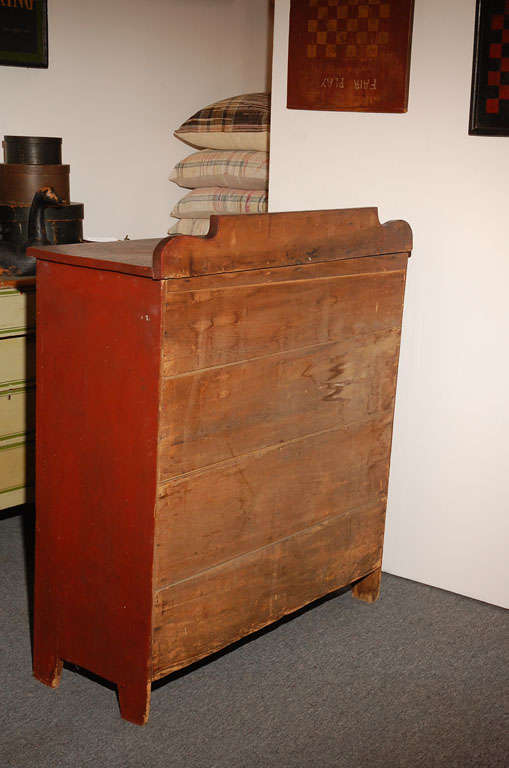 19thc Original Red Painted Jelly Cupboard From Maine For Sale 5