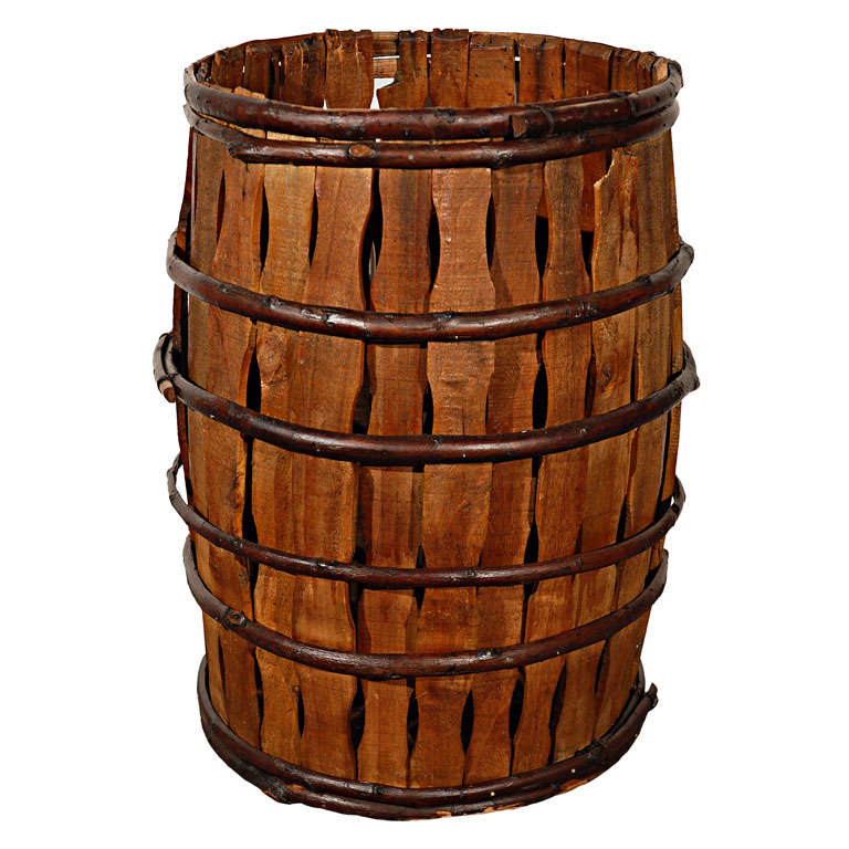 Handmade Baskets In Pa : Thc handmade twig and wood barrel from pennsylvania at