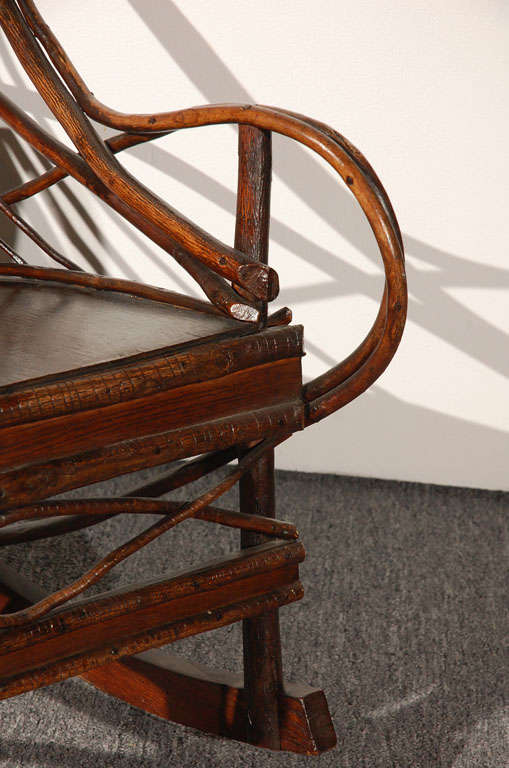 19thc Hickory Bentwood Rocking Chair From Pennsylvania At