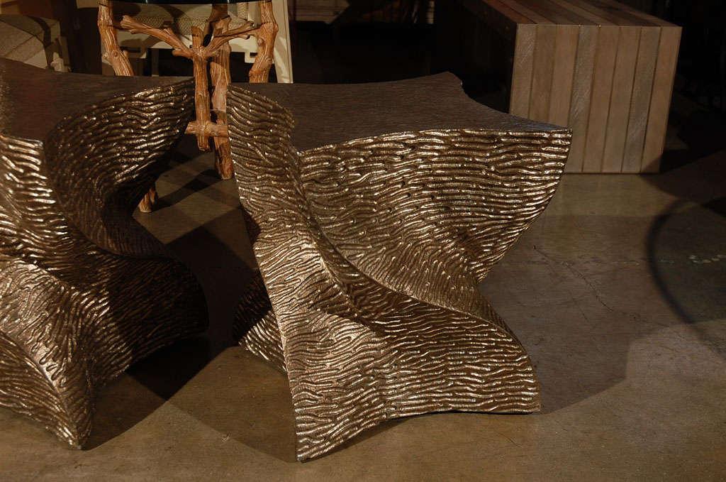 Organic Modern Paul Marra Twist Side Table For Sale