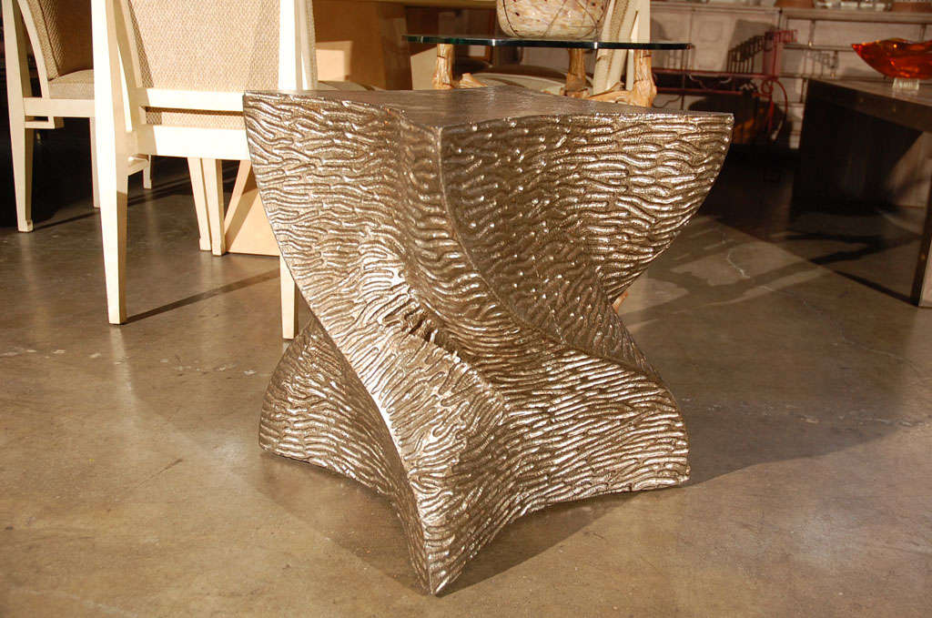 Contemporary Paul Marra Twist Side Table For Sale
