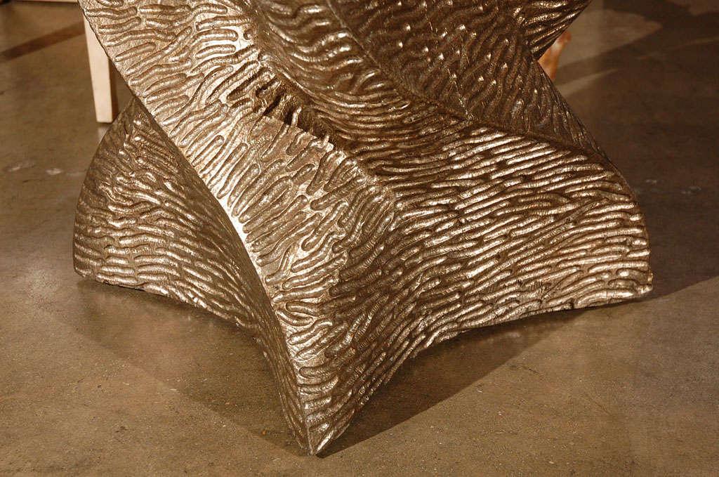 Gold Paul Marra Twist Side Table For Sale