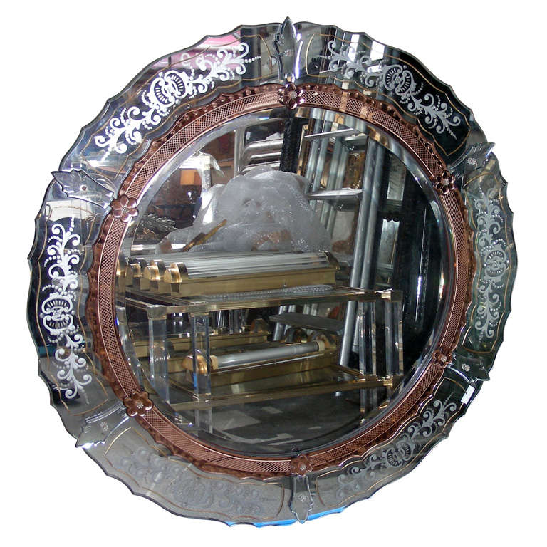 1940 1950 mirror for sale at 1stdibs for Miroir venitien paris