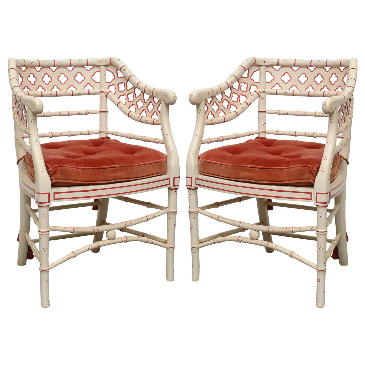 Pair Of Faux Bamboo Chairs At 1stdibs