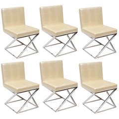 Set of 'Z' Chrome Chairs