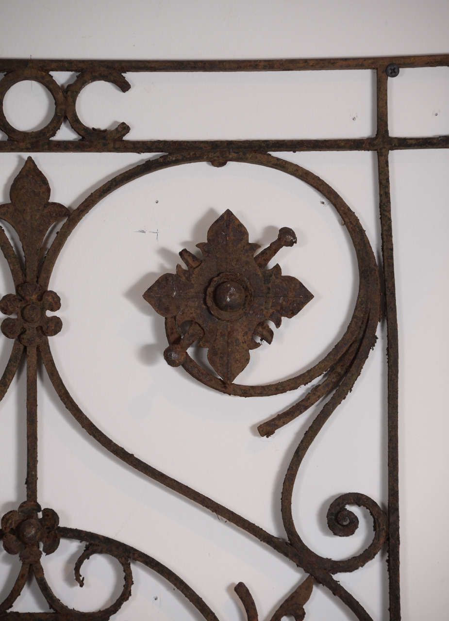 18th Century Hand Wrought Iron Decorative Piece At 1stdibs