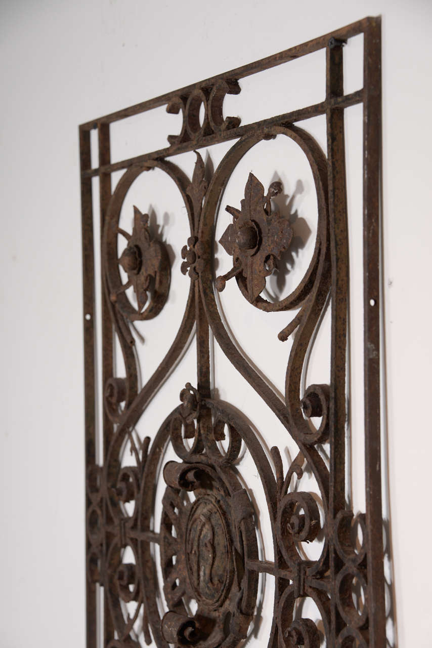 18th Century Hand-Wrought Iron Decorative Piece at 1stdibs