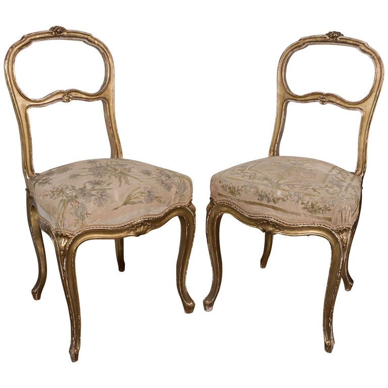 Pair of 18th Century Chairs For Sale
