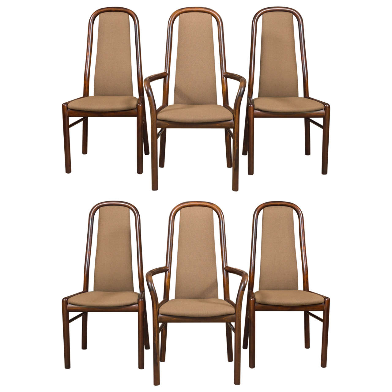 Danish Dining Room Furniture: Six Danish Dining Chairs By Boltinge At 1stdibs
