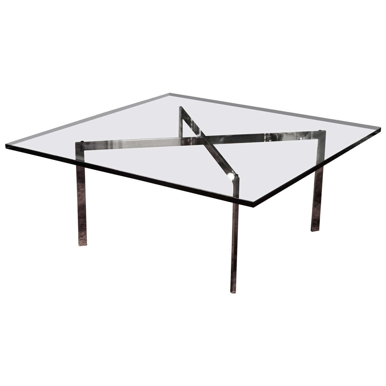Ludwig mies van der rohe barcelona table by knoll at 1stdibs - Barcelona table knoll ...