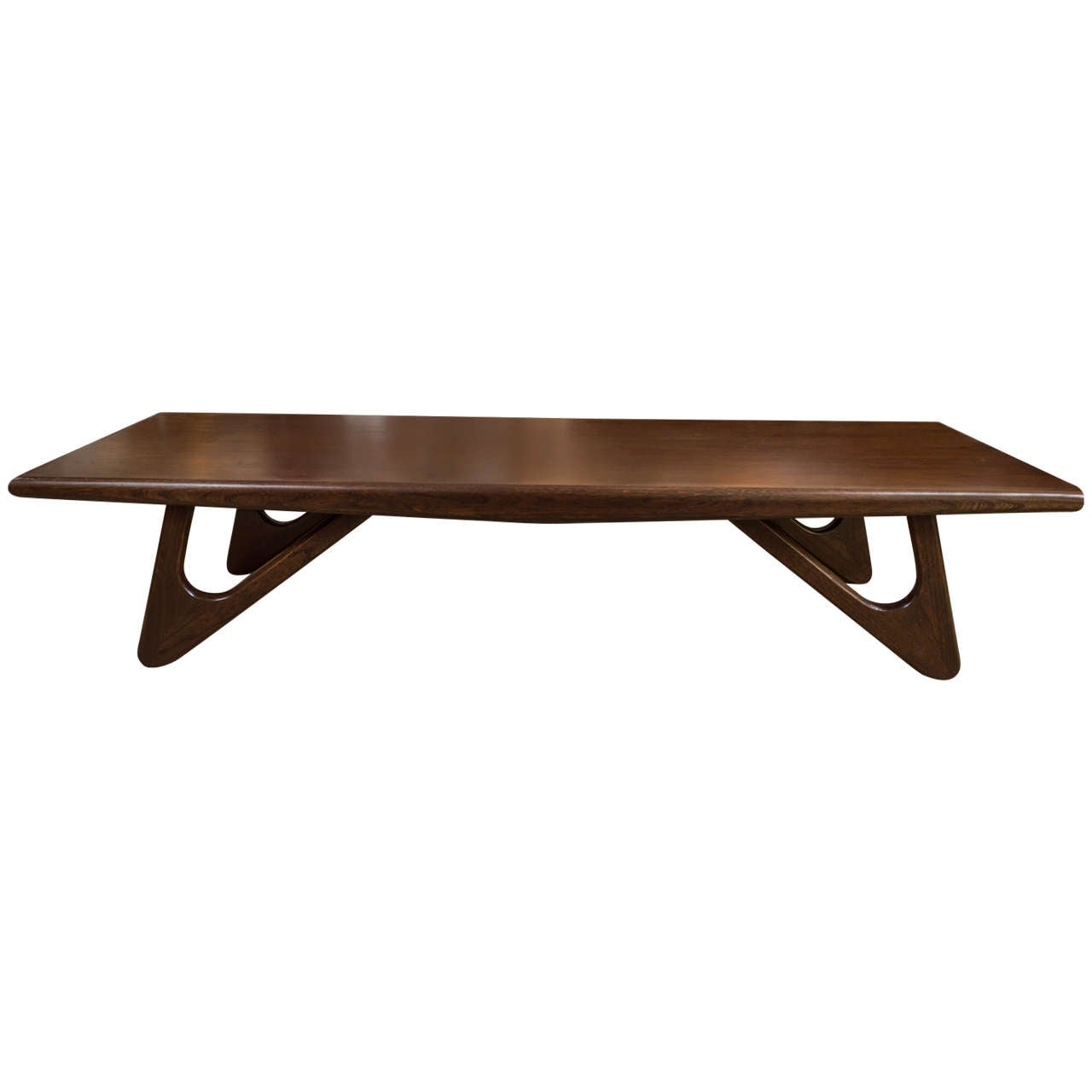 1950s Walnut Coffee Table In The Style Of Adrian Pearsall