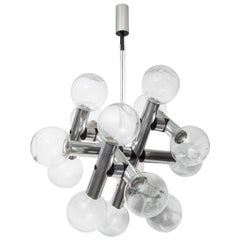 Kalmar Chrome Molecule Twelve-Globe Chandelier