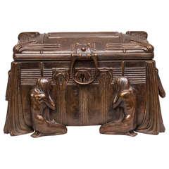 Art Nouveau / Secessionist, Bronze Box or Jewelry Casket, Signed Gurschner