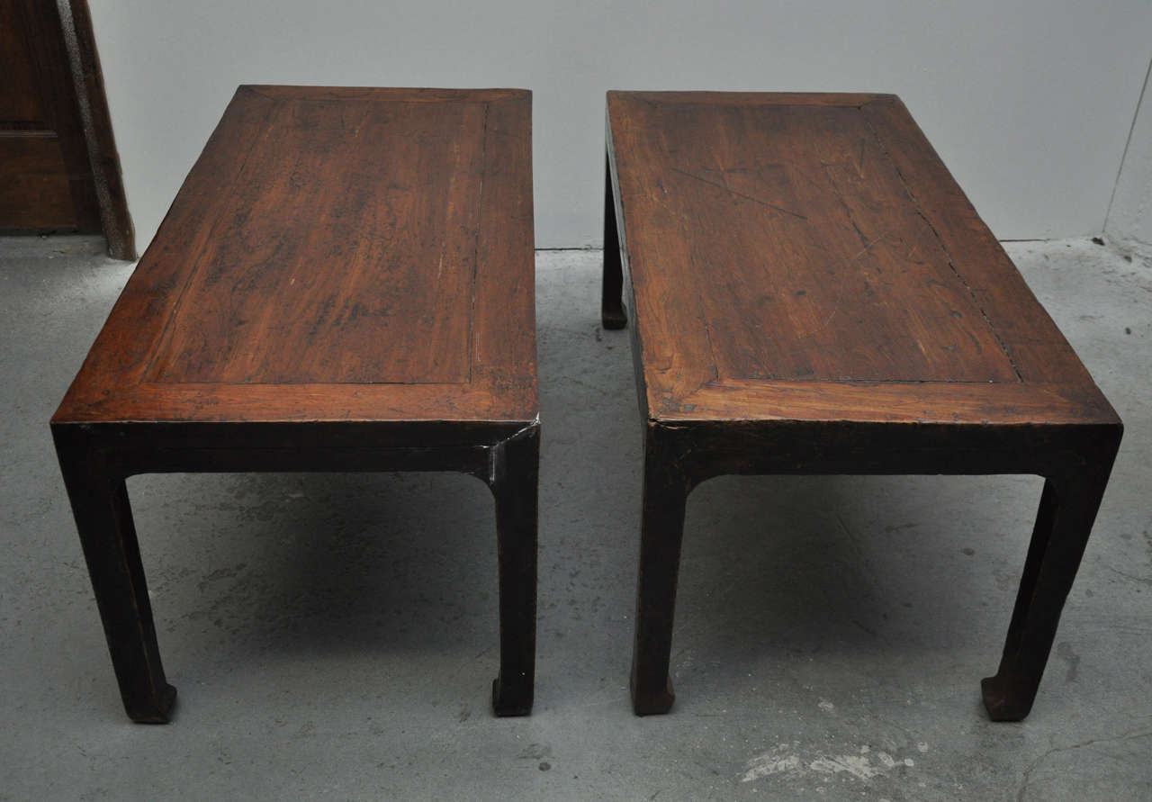 Chinese Export 19th Century Pair of Chinese Coffee or Side Tables For Sale