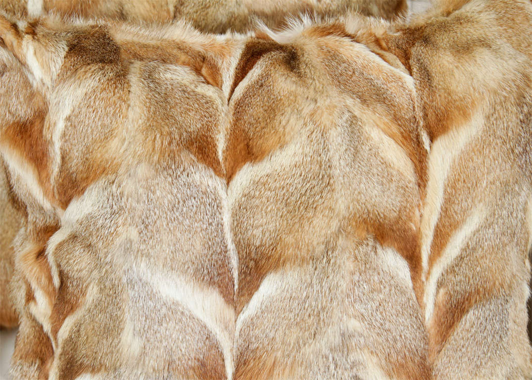 Contemporary Pillows, Fox Fur, Offered by Area ID For Sale