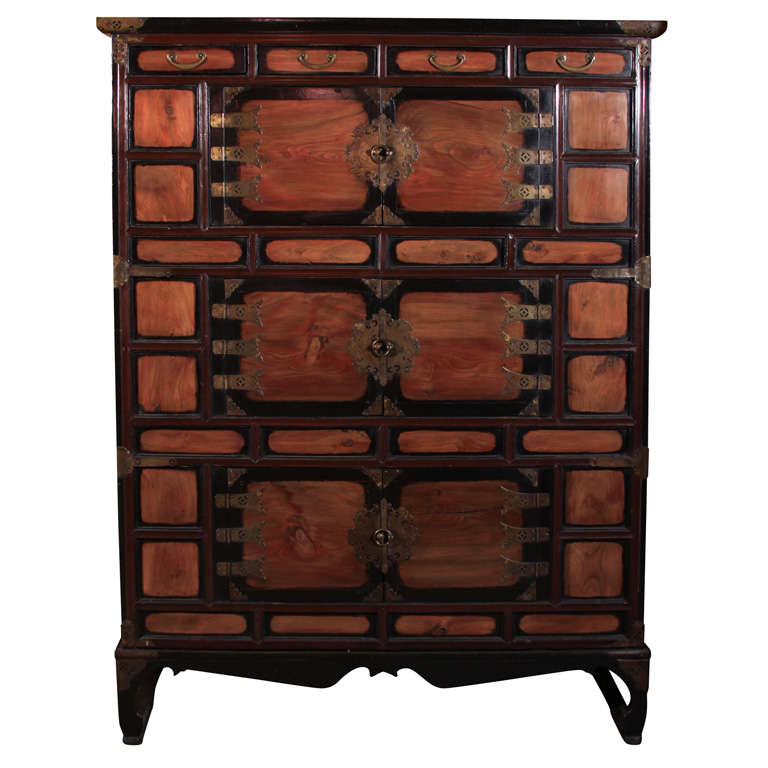tall korean lacquered wood clothing chest at 1stdibs