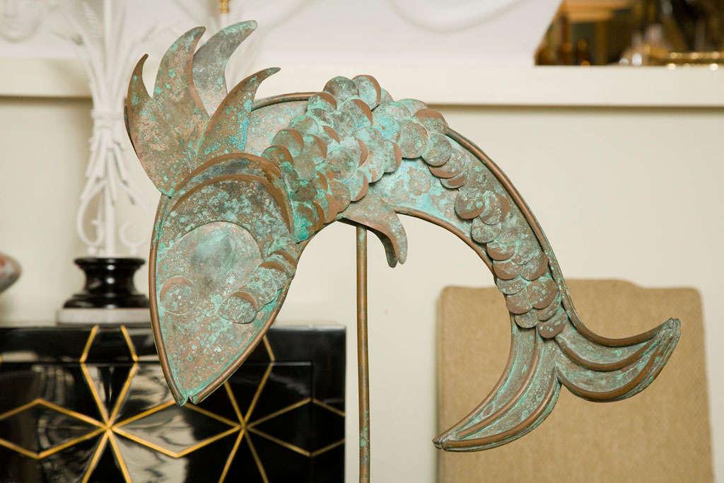 Mid-Century Modern Mid-Century Metal Fish Sculpture For Sale