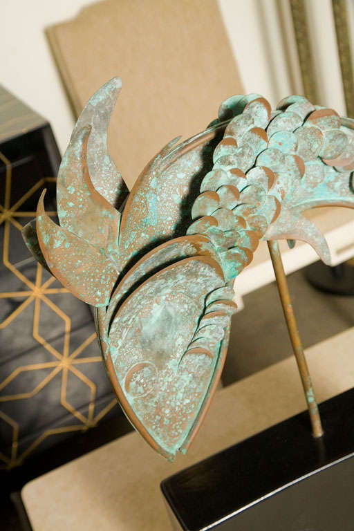 American Mid-Century Metal Fish Sculpture For Sale