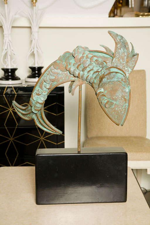 20th Century Mid-Century Metal Fish Sculpture For Sale