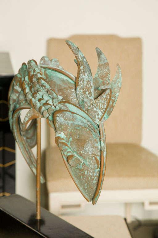 Mid-Century Metal Fish Sculpture For Sale 1