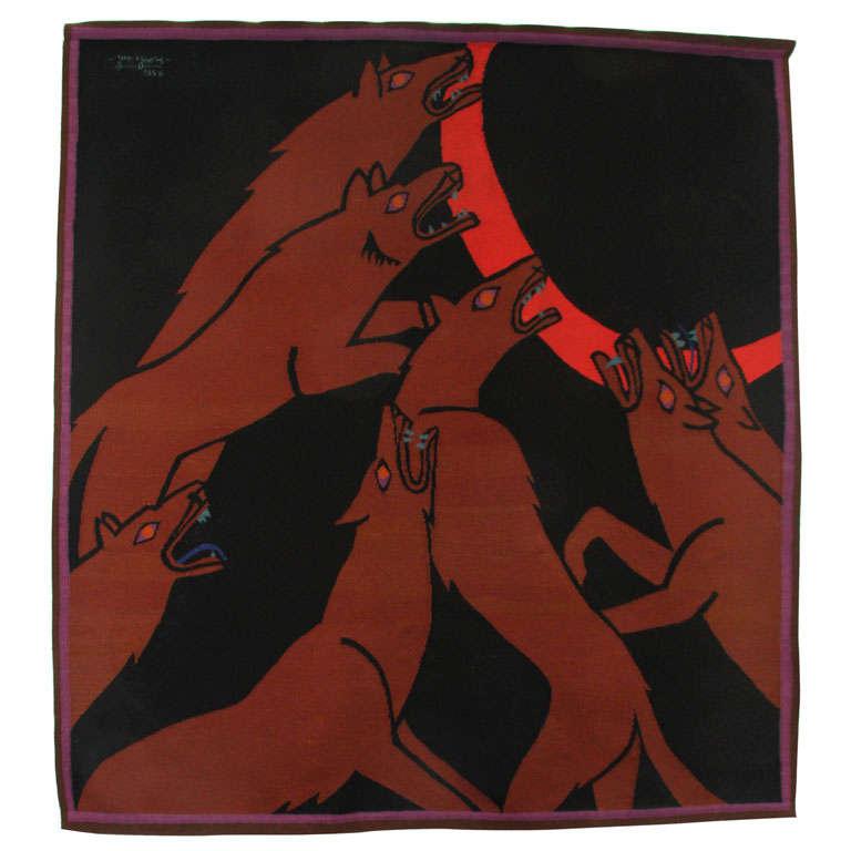 """Wolves"" by Jan Yoors"