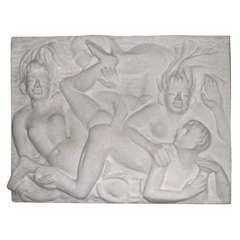 Circa 1935 Plaster Low-Relief by Lucile Passavant