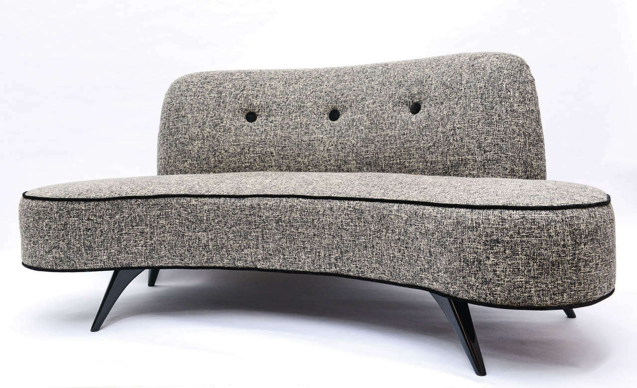This Sofa Embos The Ultimate 1950s Seating Elegantly Redone By Our Furniture Restoration Division And