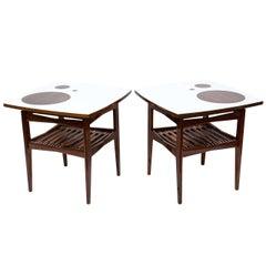 Stunning Danish Pair of Mid-Century Teak Side Tables