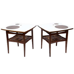 Stunning Danish Pair of Mid-Century Teak Side Tables