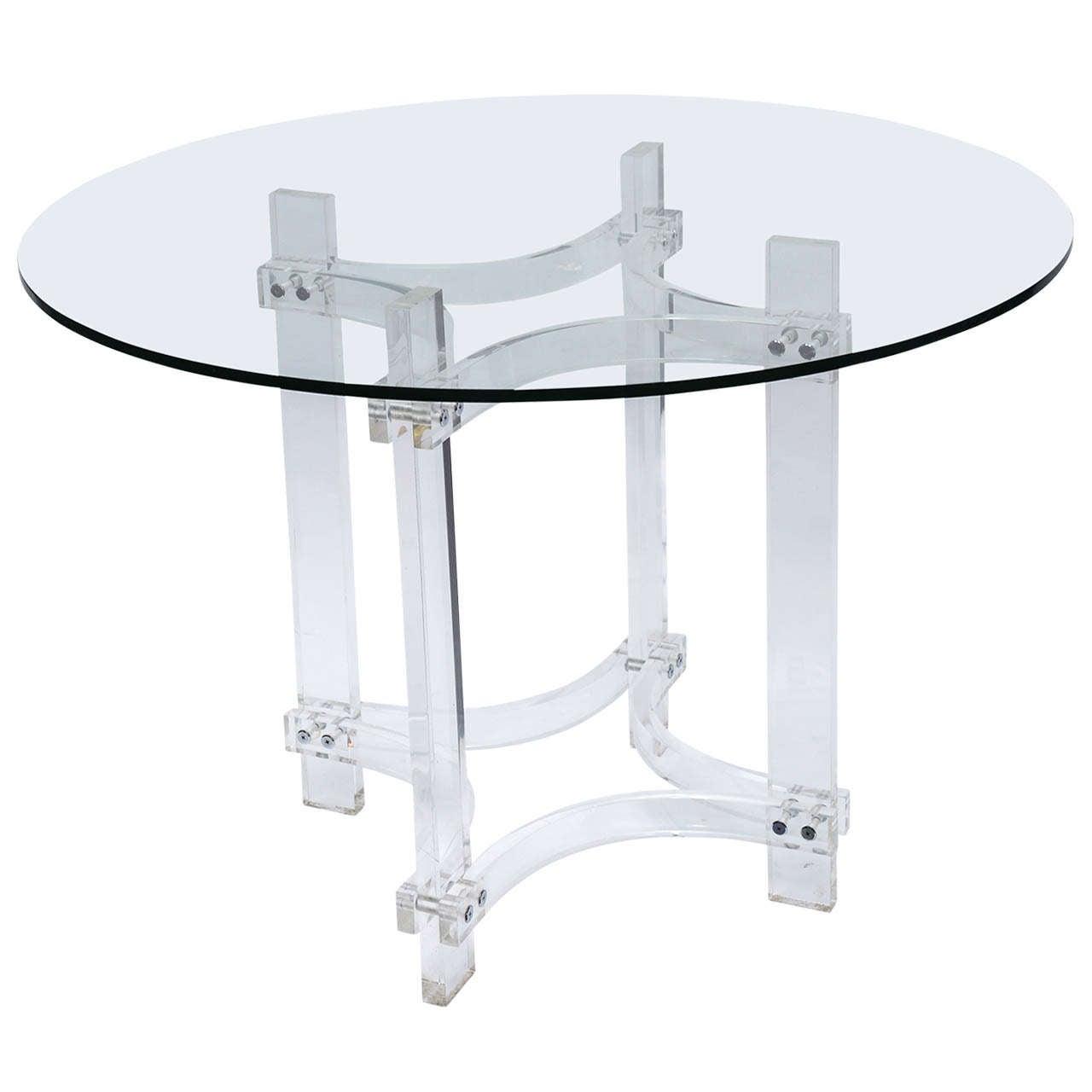 Charles Hollis Jones Style Acrylic Side Table At 1stdibs