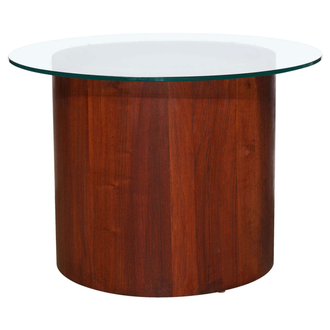 Late 1950's Solid Teak and Glass Top Occasional Table by Lane