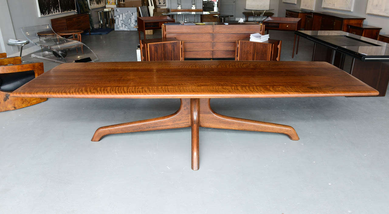 A rare and important sam maloof dining conference table for B m dining room table