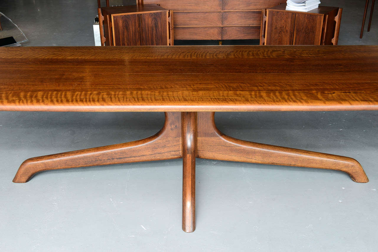 A rare and important sam maloof dining conference table for Dining room tables usa