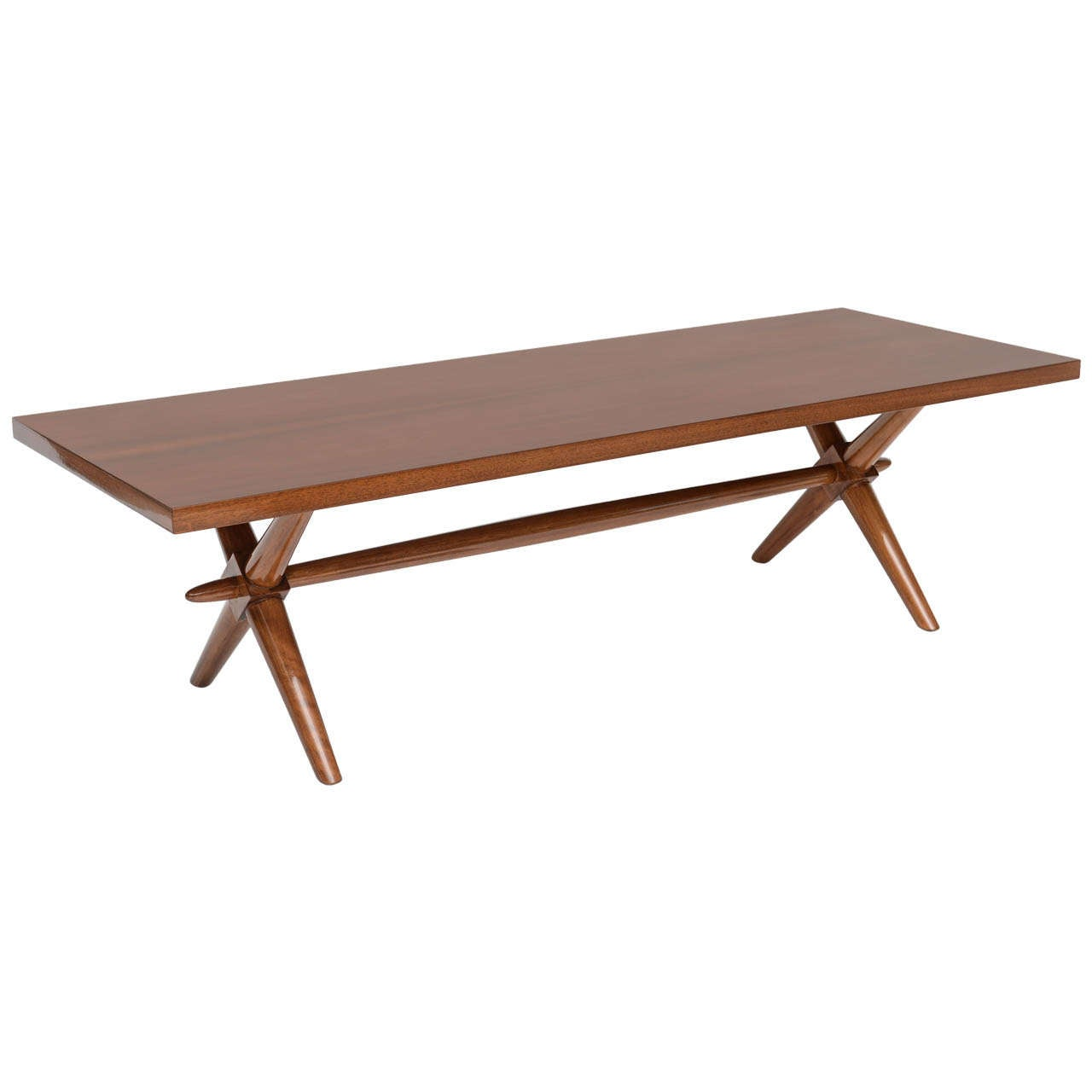 American Modern Walnut Low Table Robsjohn Gibbings For Sale At 1stdibs