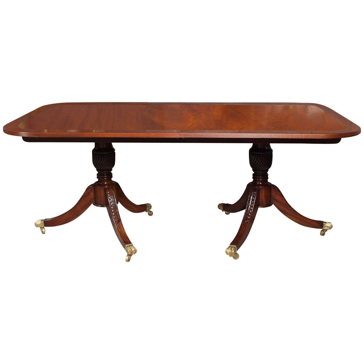 English Regency Style Mahogany Dining Table At 1stdibs
